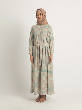 MEANNA DRESS DUSTY BLUE