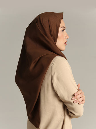NUVOILE SCARF CHOCO BEIGE