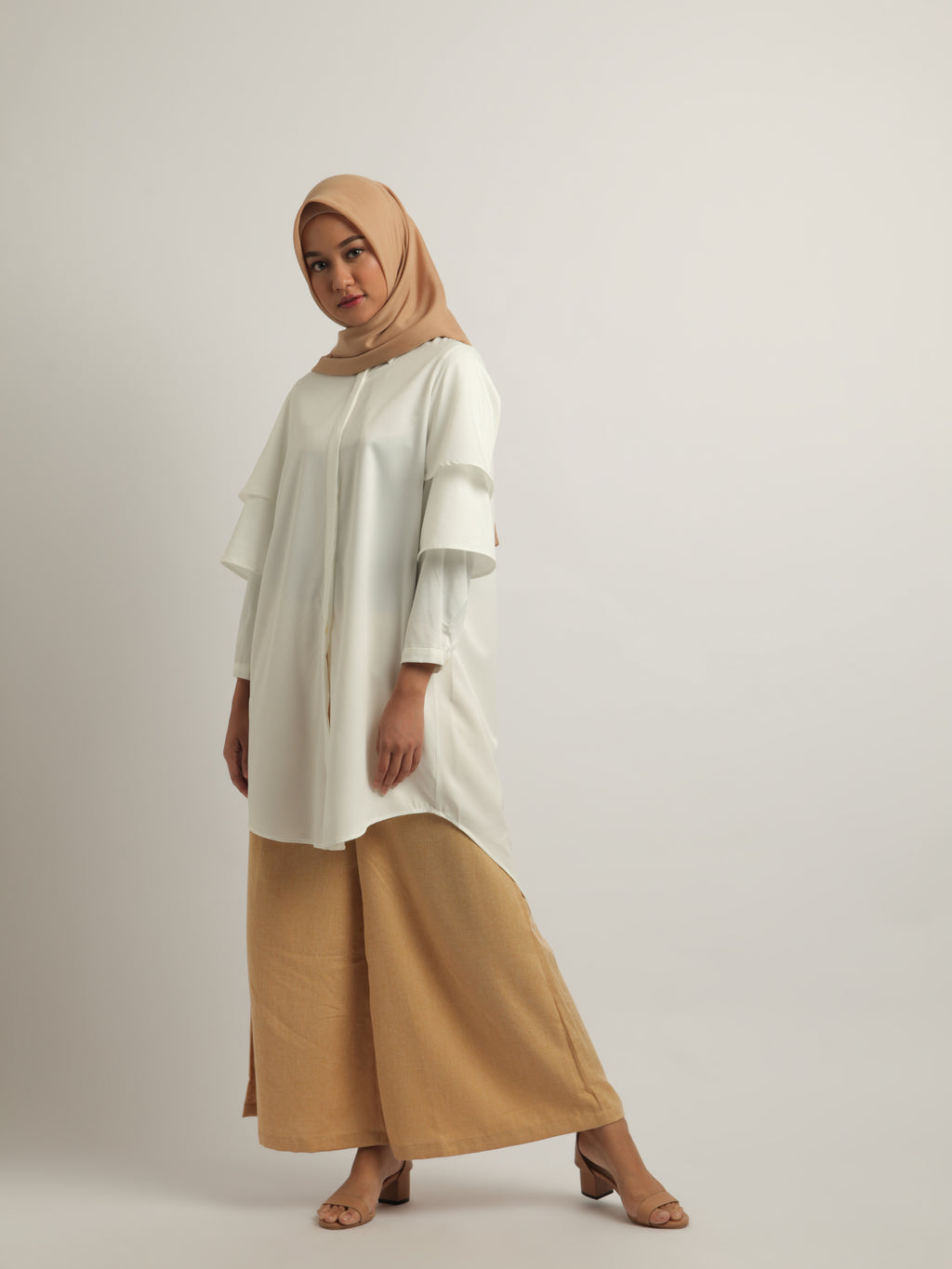 SHANA TUNIC PLAIN CLOUD WHITE