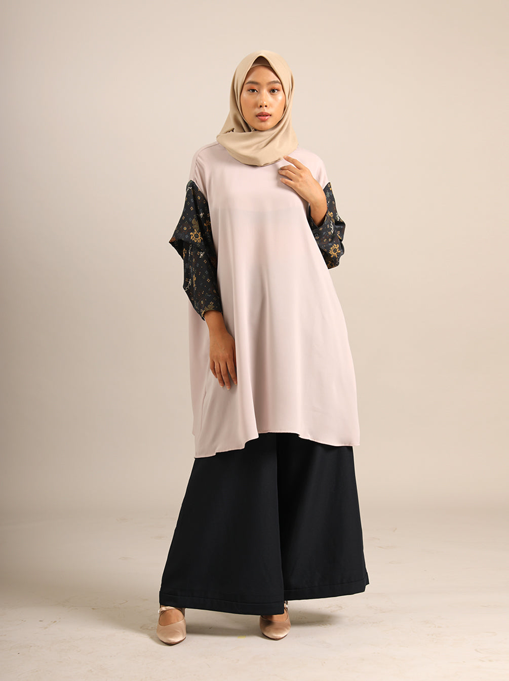 SHREYA TUNIC MIDNIGHT FOG