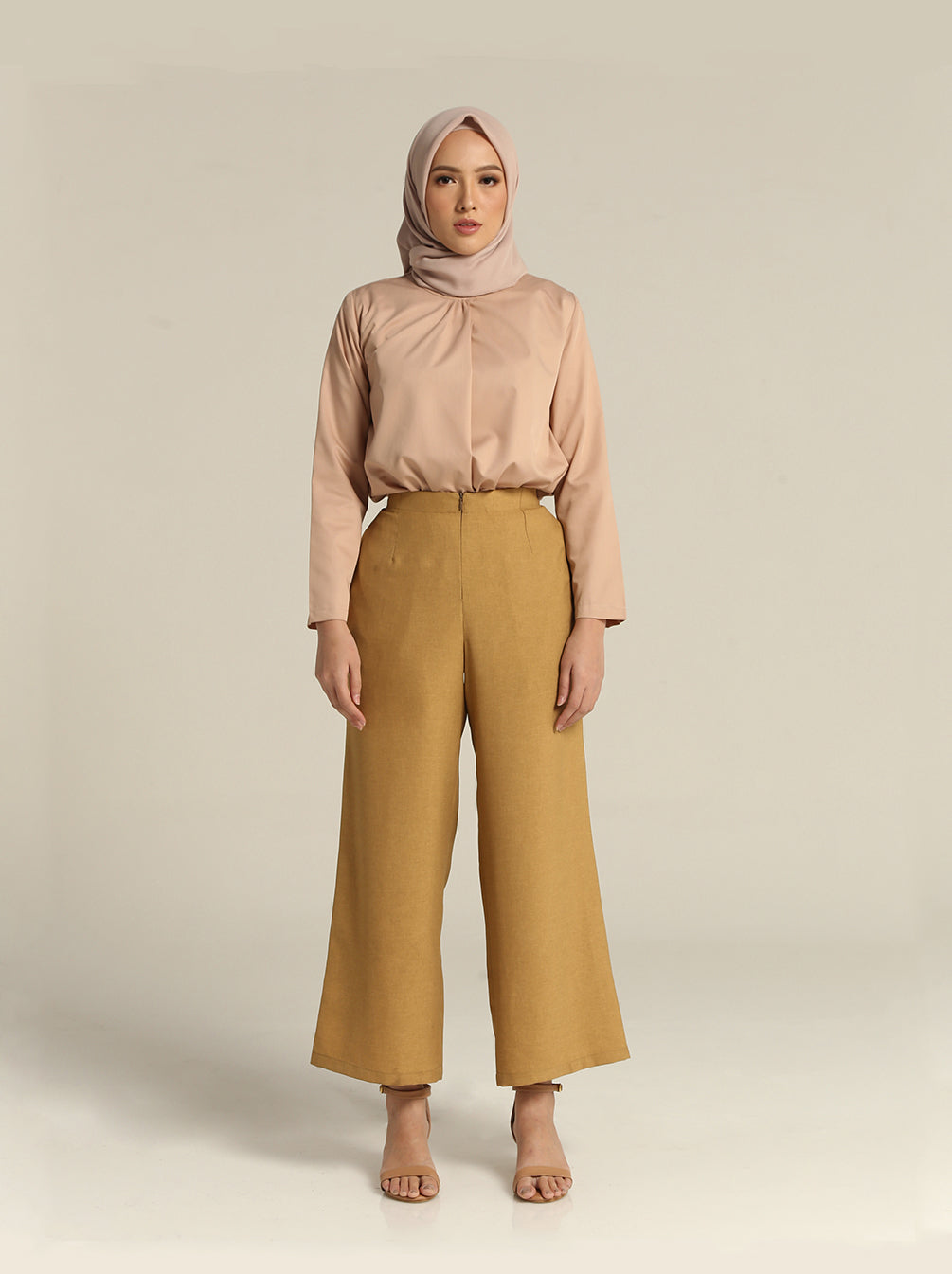 SOLYA PLAIN PANTS MUSTARD