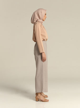 SOLYA PLAIN PANTS PEBBLE