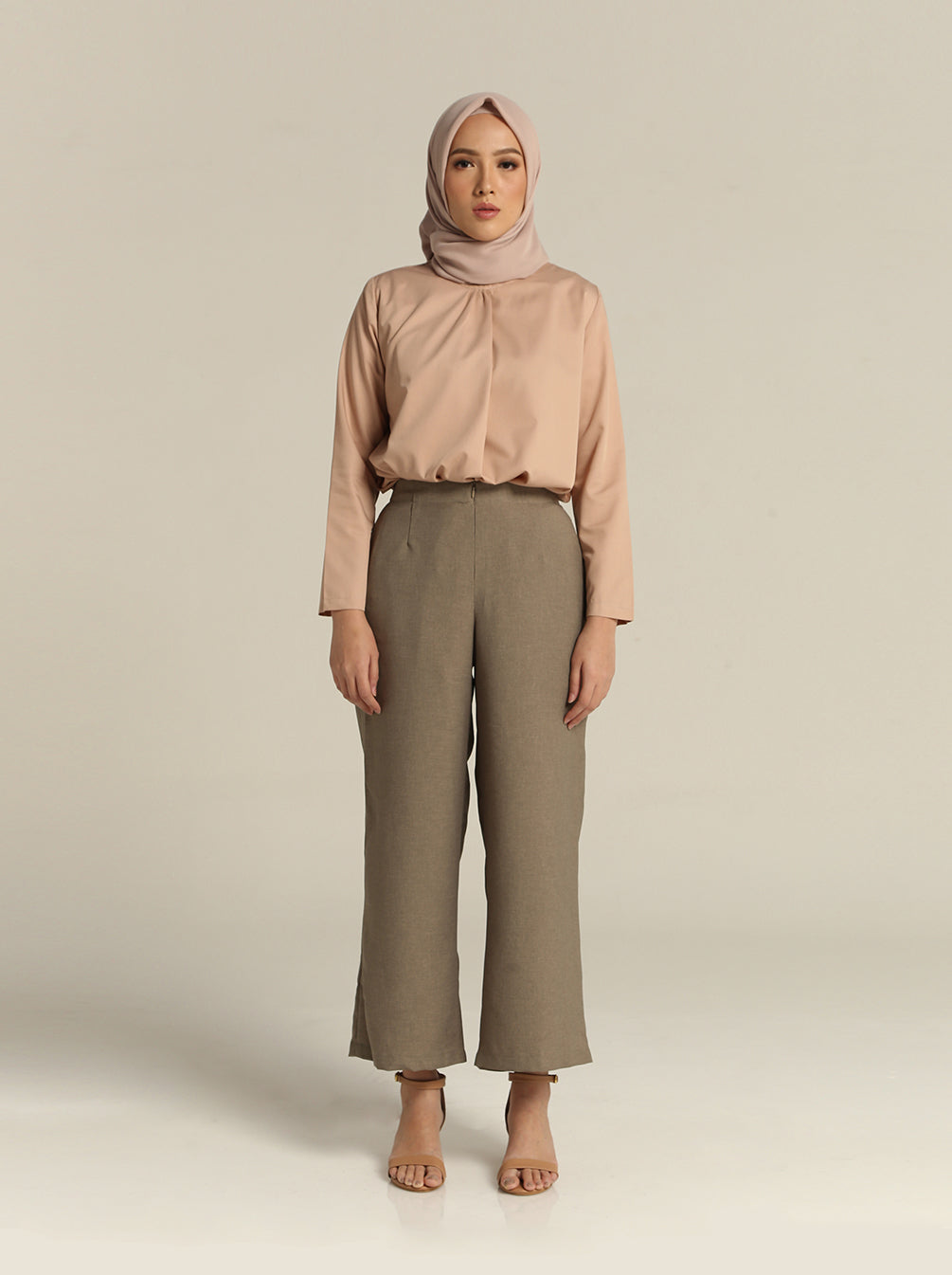 SOLYA PLAIN PANTS STONE