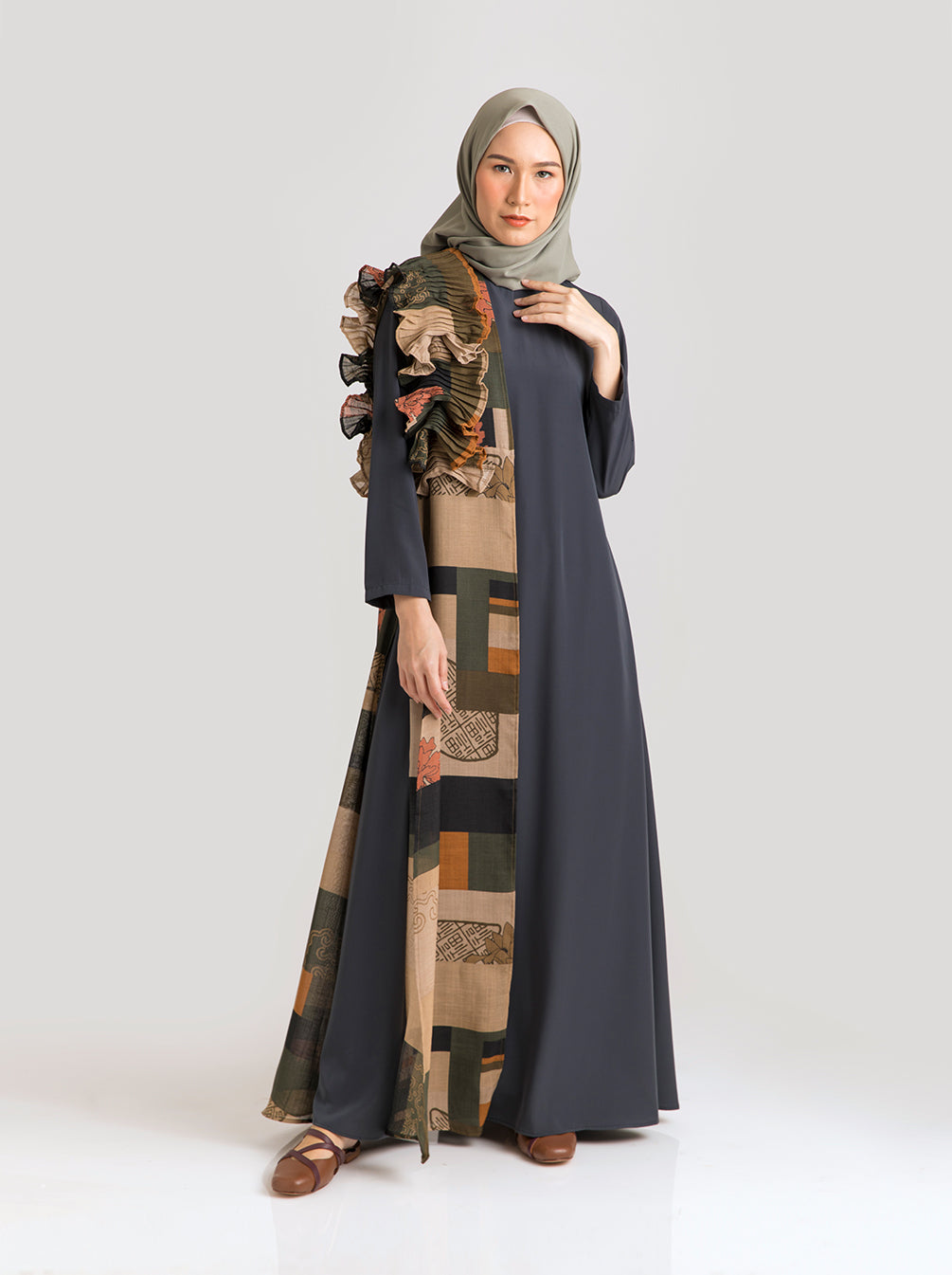 SONAM DRESS ROYAL MOSS