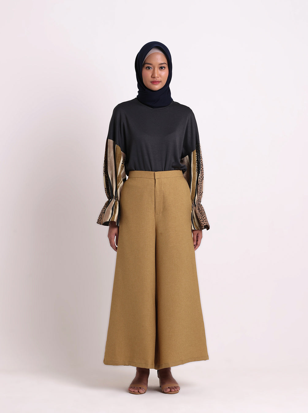 SELYN PLAIN PANTS MUSTARD