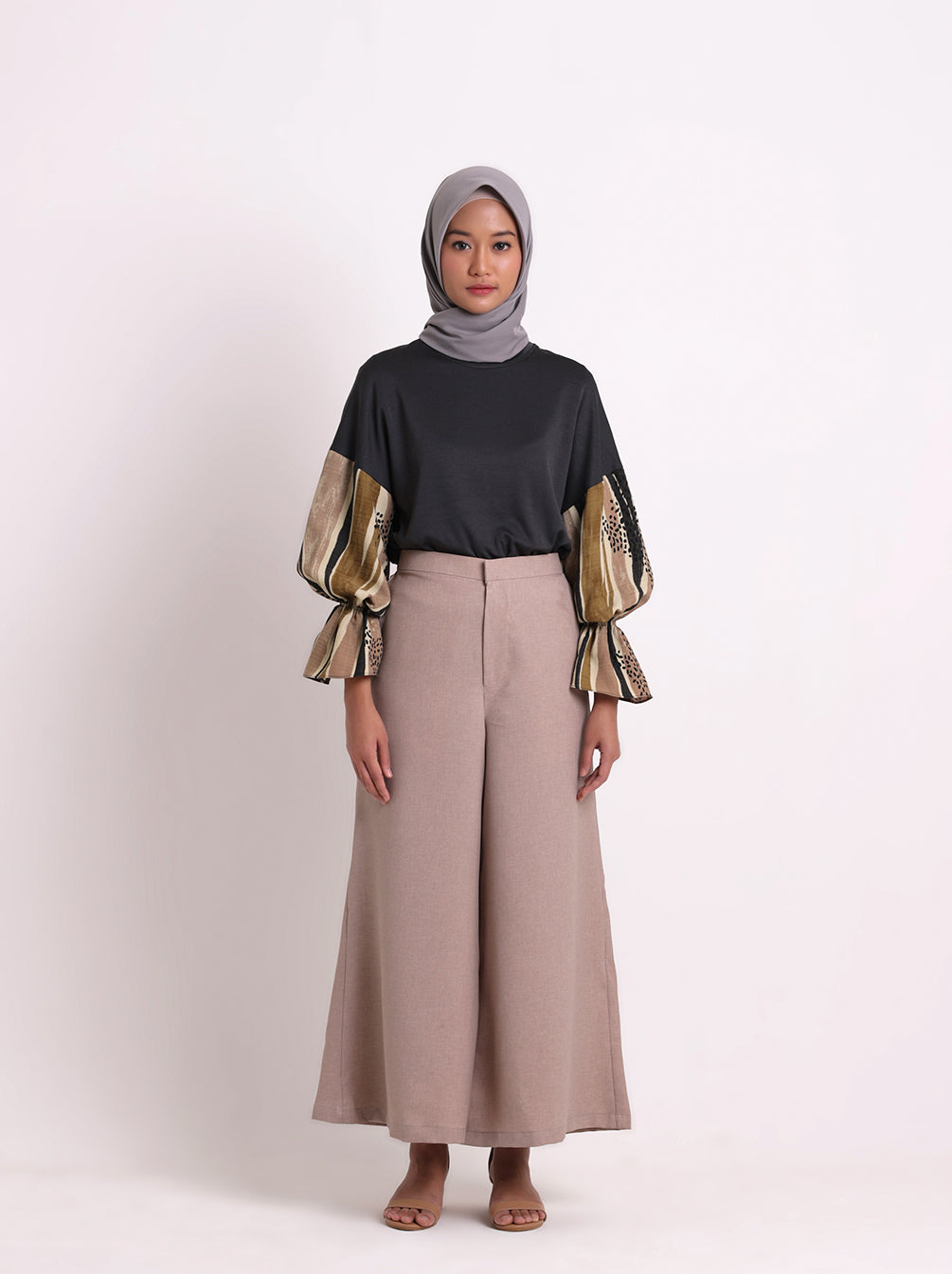 SELYN PLAIN PANTS SANDY