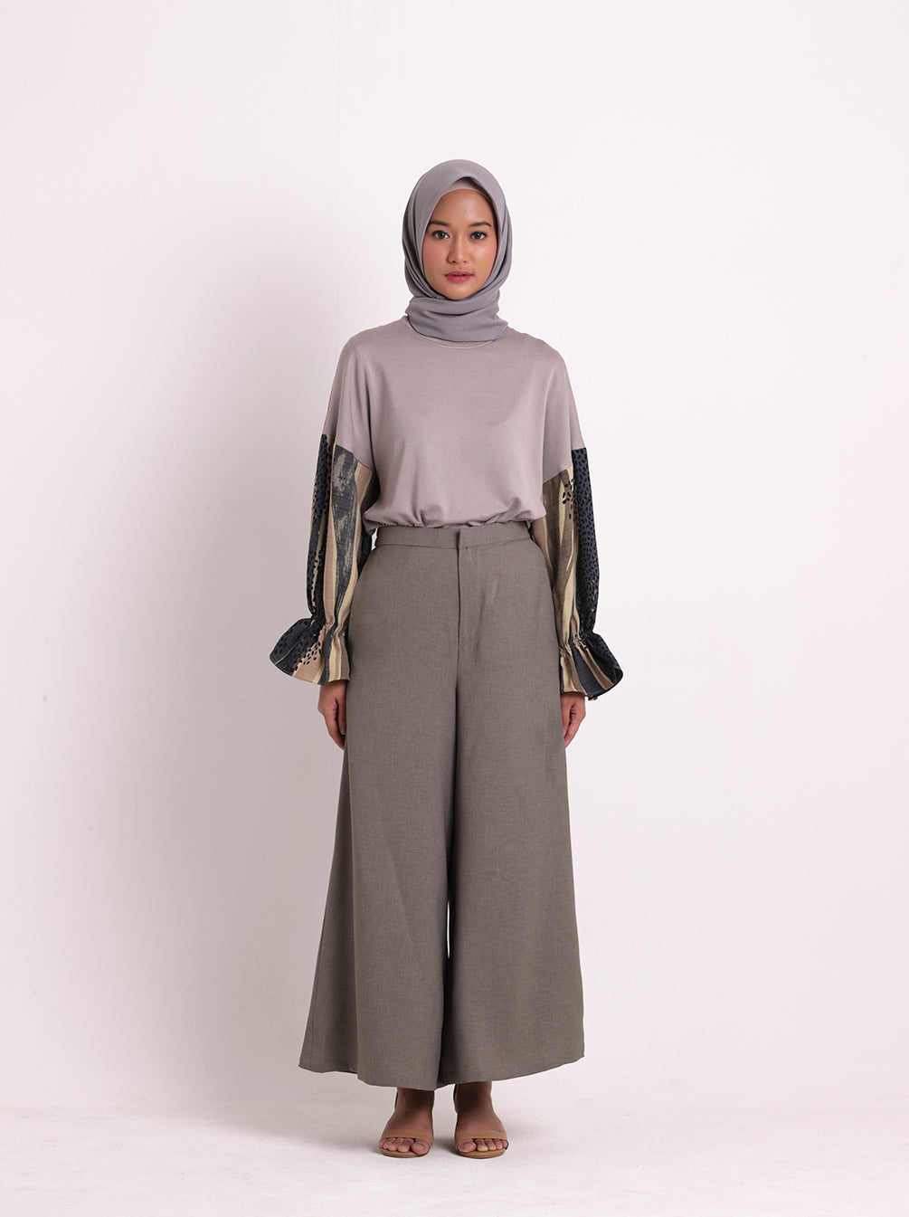 SELYN PLAIN PANTS STONE