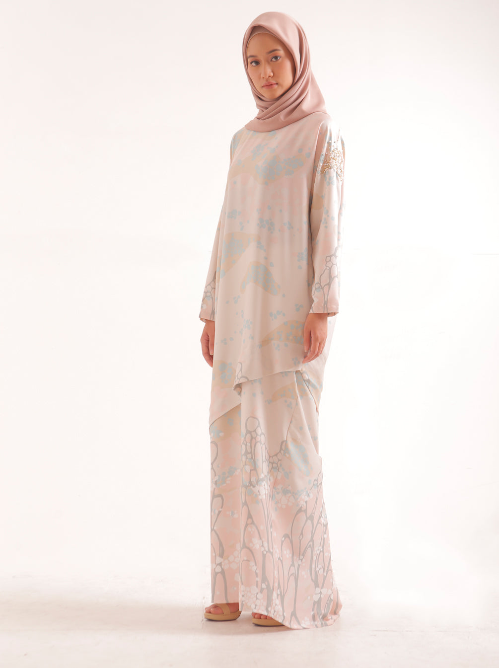 SHERU DRESS IVORY PEARL