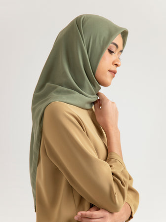 AIRY VOAL SCARF PLAIN OAK MOSS