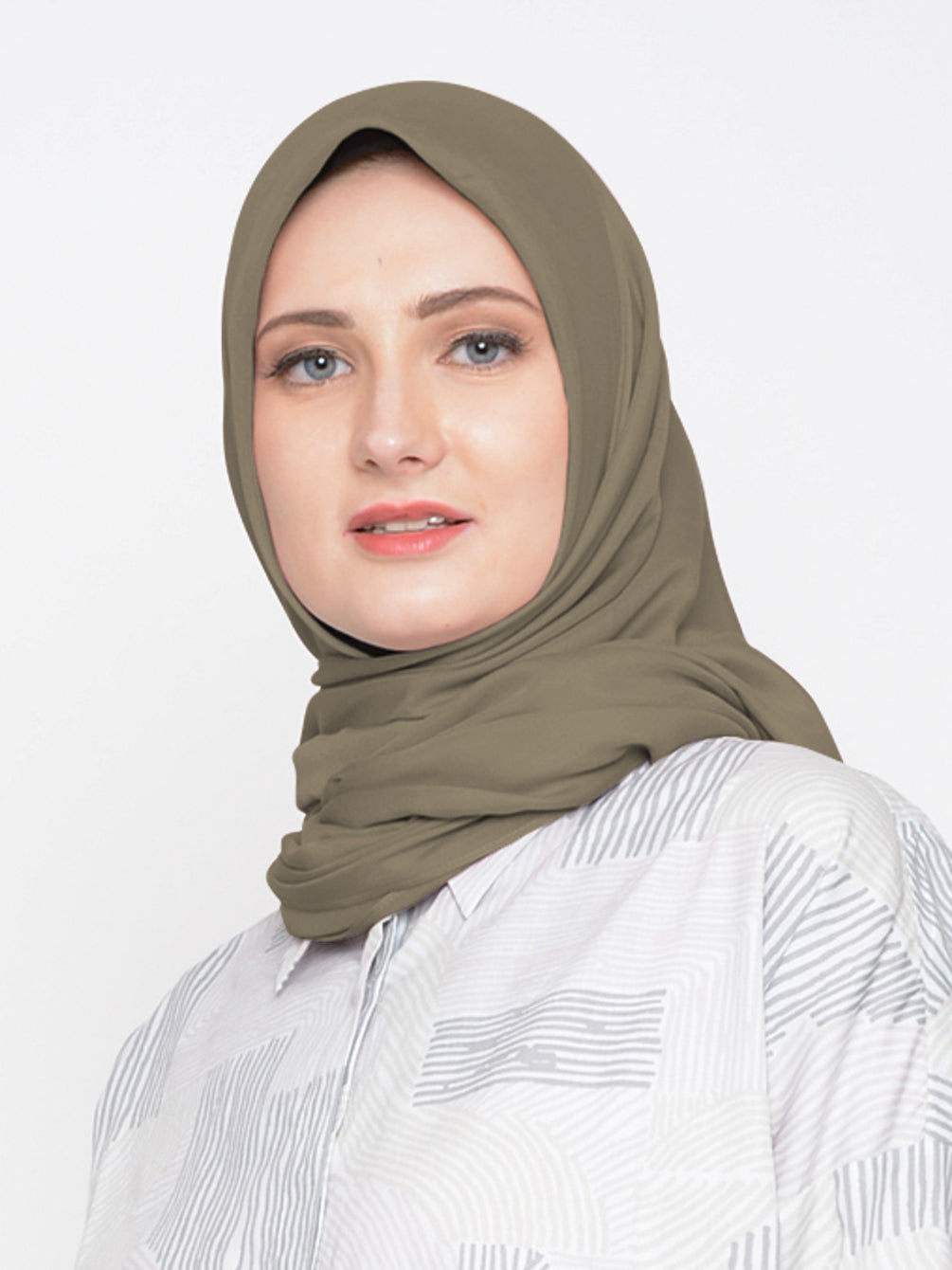 VOAL SCARF PLAIN FRENCH BISTRE