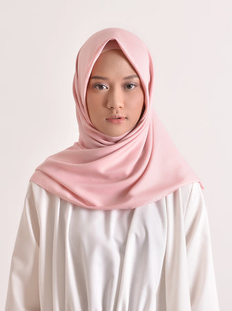 VOAL SATEEN SCARF BABY PINK