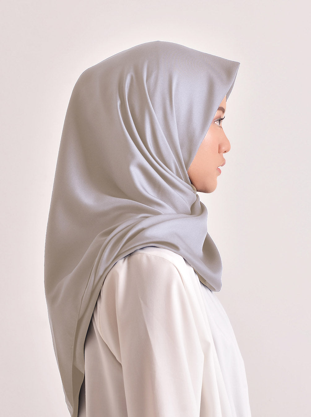 VOAL SATEEN SCARF LIGHT STONE