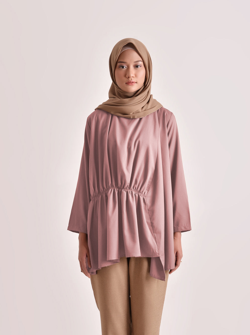 ALANA TOP PLAIN DUSTY PINK