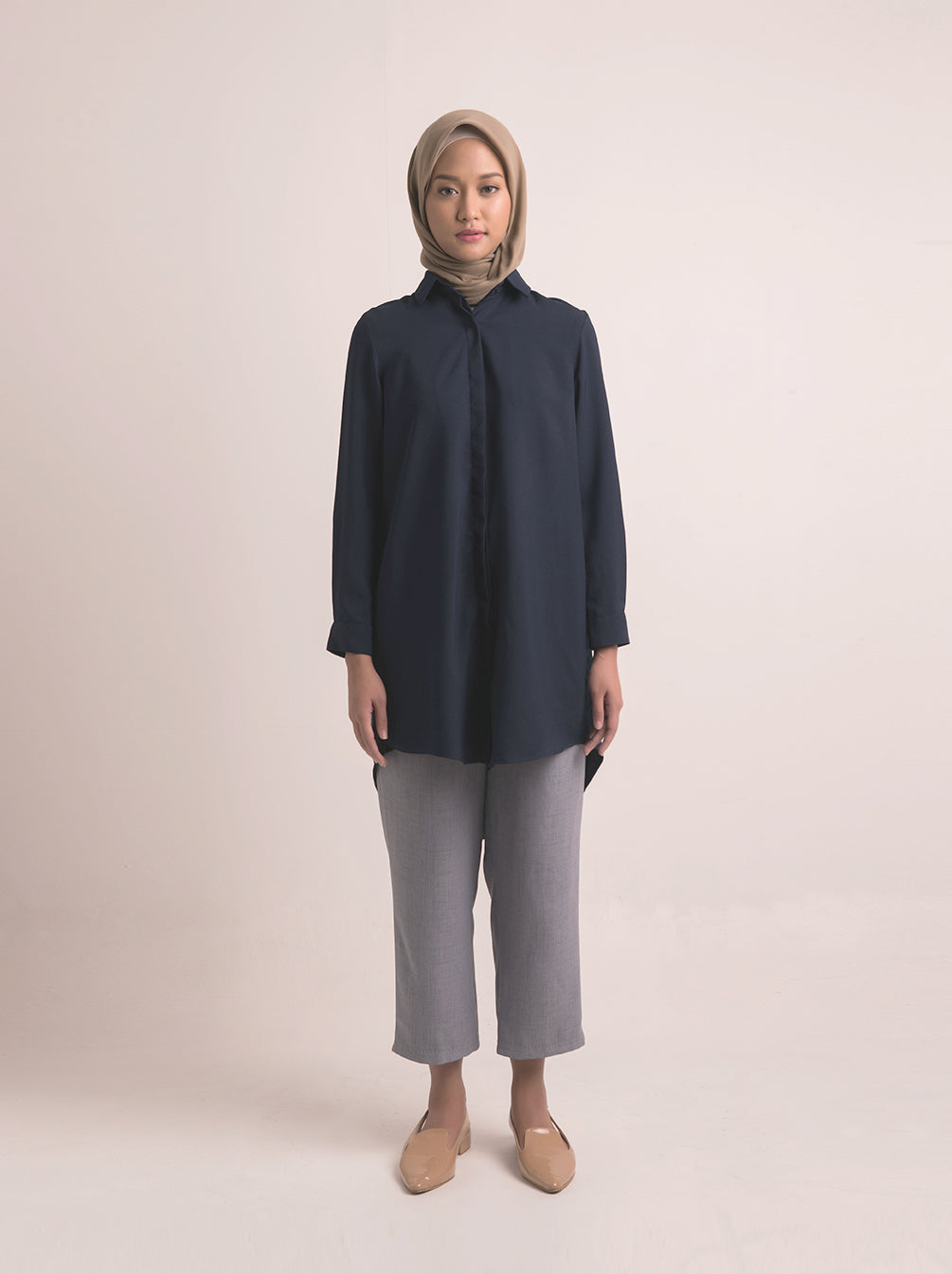 CADHNA TUNIC PLAIN NAVY