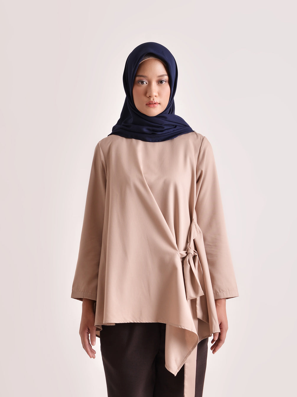 HALA TOP PLAIN DUSTY PINK