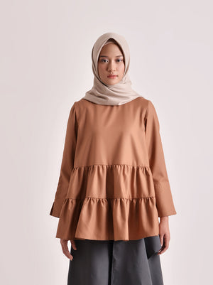 SHALA TOP PLAIN BROWN
