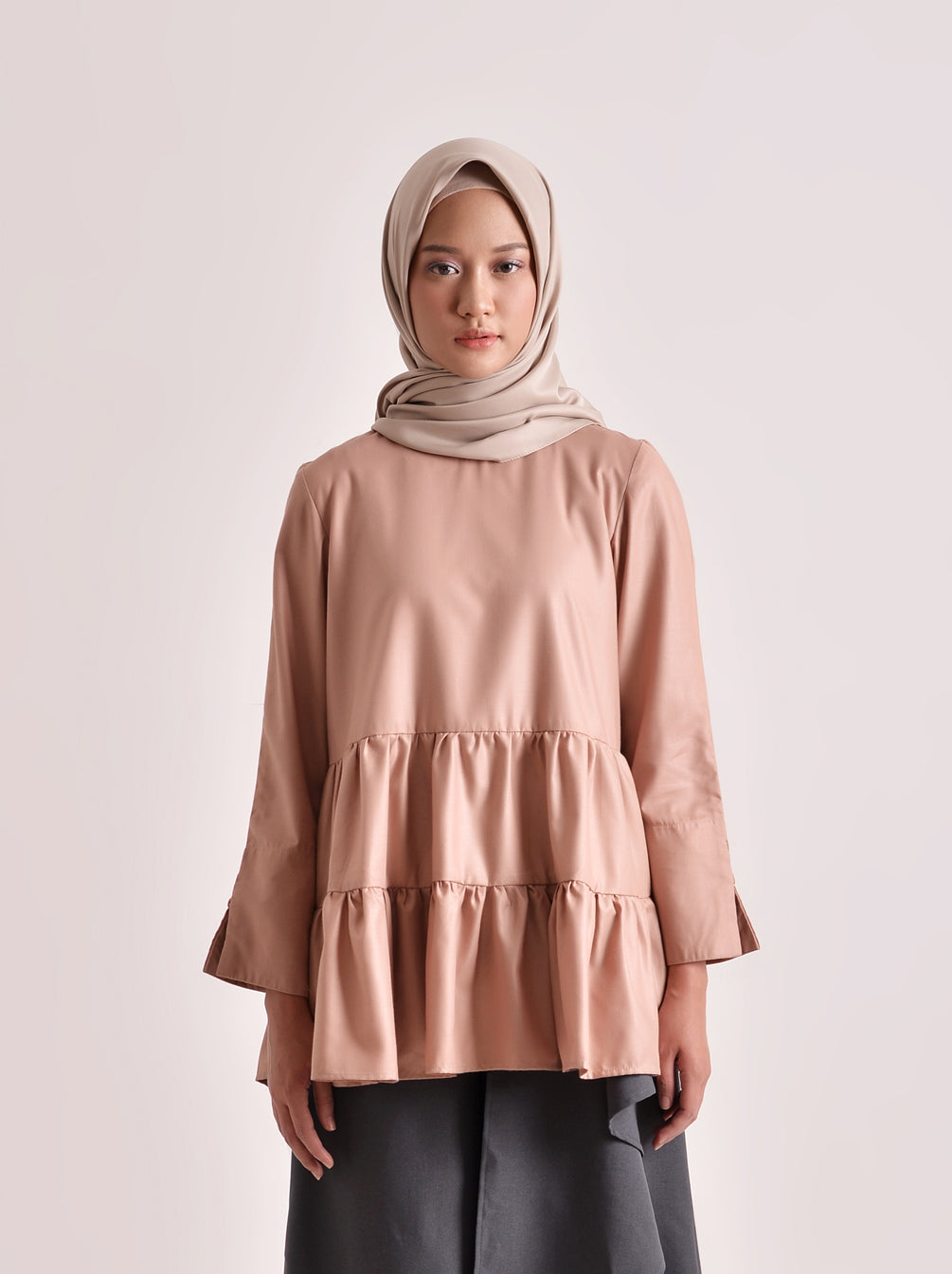 SHALA TOP PLAIN DUSTY PINK