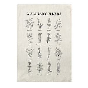 Culinary Herbs Kitchen Towel