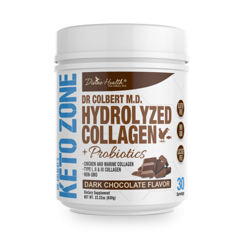 Keto Zone Hydrolyzed Chicken + Marine Collagen with Probiotics (Chocolate)