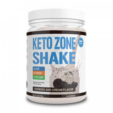 Keto Zone Shake (Cookies & Cream Flavor)