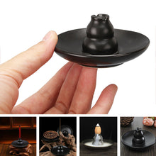 Shaped Black Ceramic Incense Burners