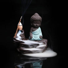 Lovely Little Monk and Buddha Backflow Incense Burner