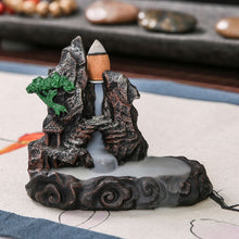 Flowing Ceramic Smoke Mountain Incense Burner