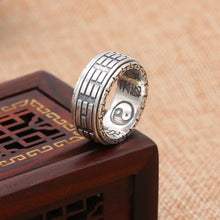 925 Sterling Silver Ying Yang Ring