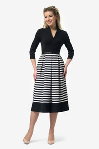 Black Multi Striped Dress - ktd-fashion.myshopify.com