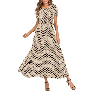 O-neck Polka Dot Dress eprolo