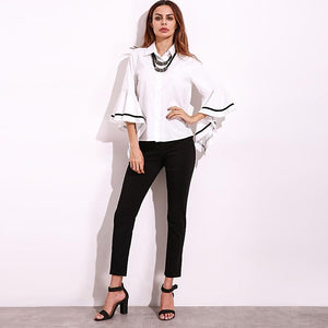 Striped Bell Sleeve Blouse eprolo