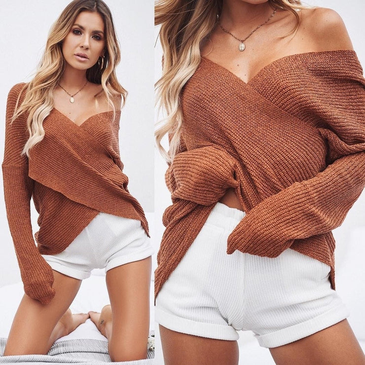 Criss Cross Knitted Sweaters