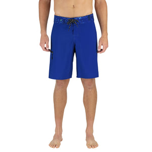 "ABYSS MEN'S 20"" BOARDSHORTS BLUE, LONG FISHING SHORTS, KNEE LENGTH SWIM TRUNKS"