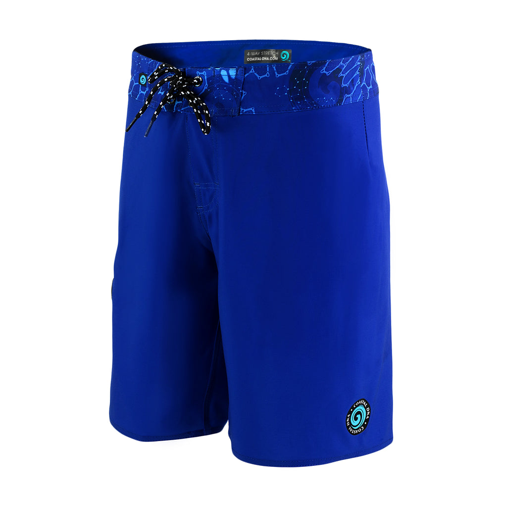 "ABYSS MEN'S 20"" BOARDSHORTS BLUE, LONG FISHING SHORTS"