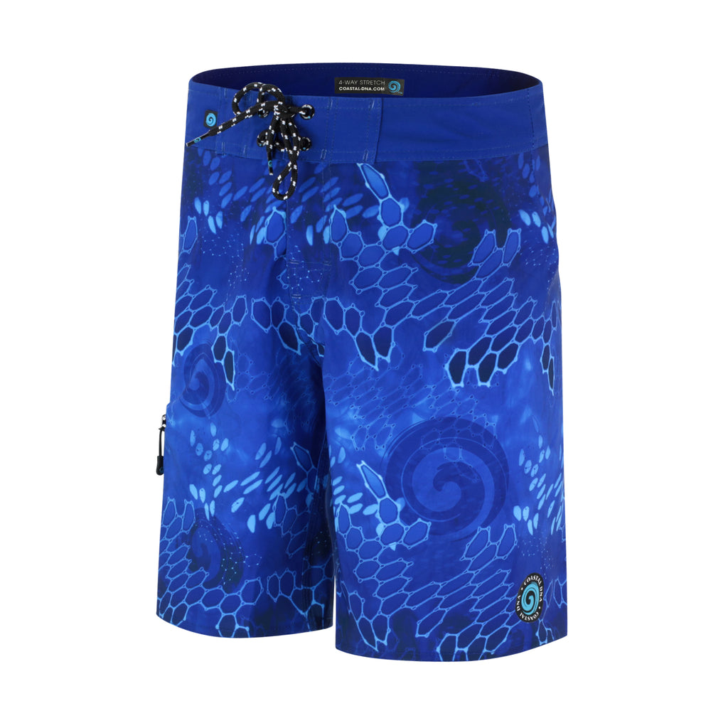 "DNA BLUE 20"" MEN'S BOARDSHORTS, SURF SWIM TRUNKS, FISHING SHORTS"