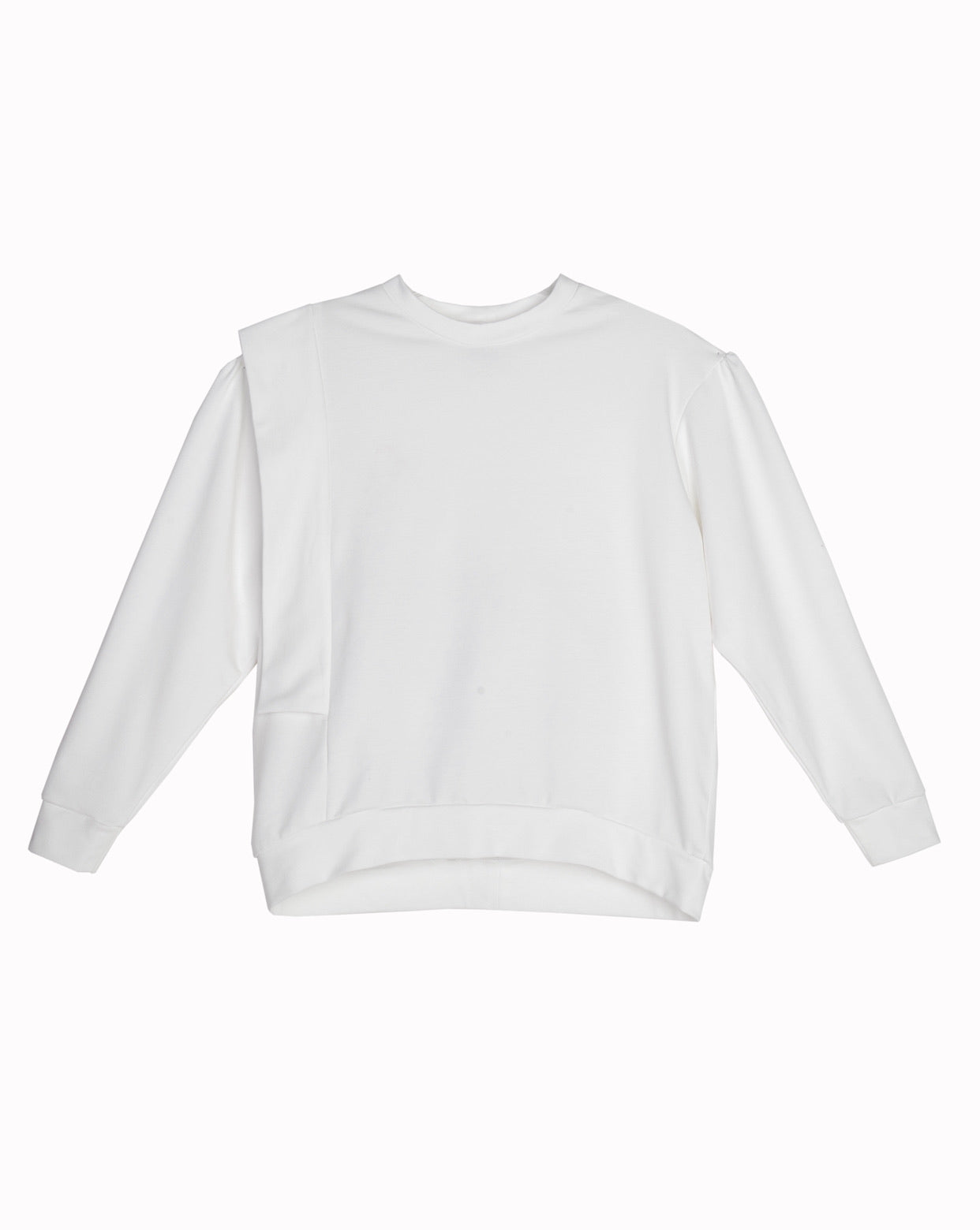 Sweatshirt with ornament. Ecru organic cotton.