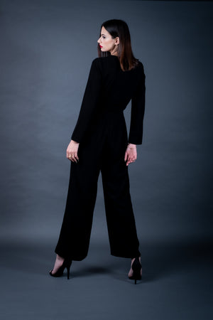 Black Wide-leg Jumpsuit