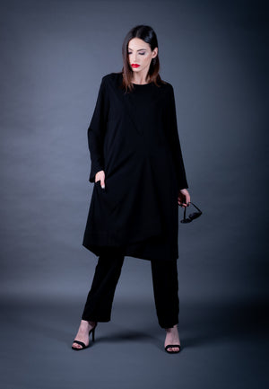 The Fold- Plain Black Tunic
