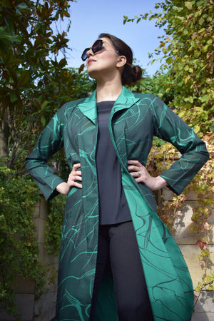 Green two-toned coat