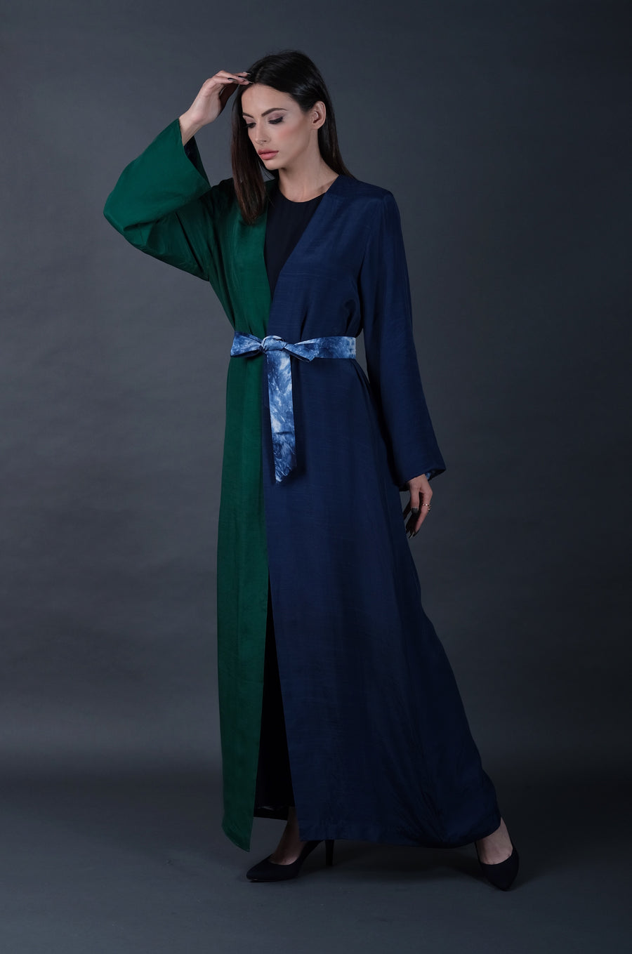 Emerald and Royal Blue Abaya