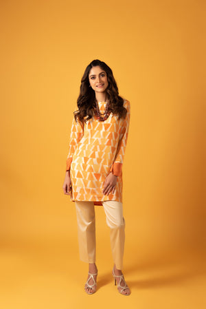 Geometric Silk Tunic