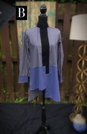 Asymmetrical Striped Tunic