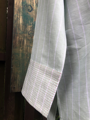 Pale Green Stitch Detail Tunic