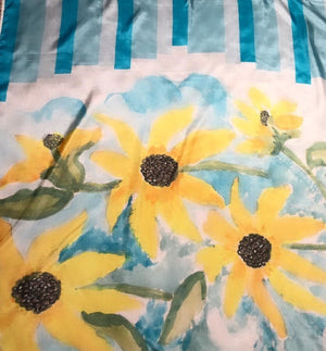 Sunflower printed scarf
