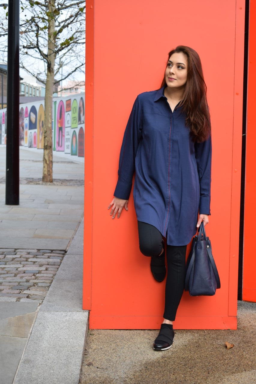Red Stripe Blue Tunic
