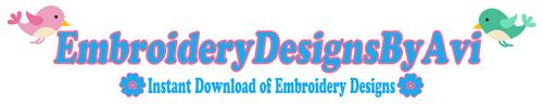 Embroidery Designs By AVI Instant Downloads