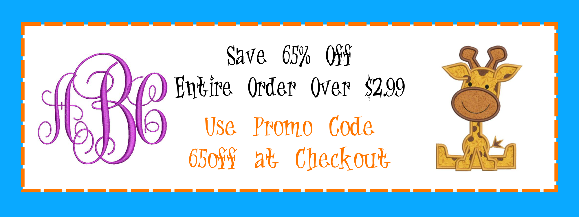 Embroidery Design Sale - Coupon Promo Code