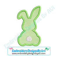 Bunny Rabbit Sitting Applique Machine Embroidery Design