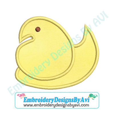 Applique Marshmallow Peep Duck Embroidery Design Download
