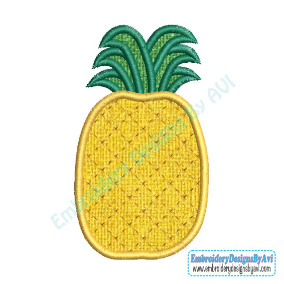 Pineapple Applique Machine Embroidery Design Download